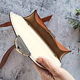 Kabelky - Kožená kabelka Daphne (koňaková hnedá) - 11531601_
