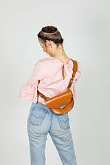 Kabelky - Kožená kabelka Daphne (koňaková hnedá) - 11531603_