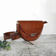 Kabelky - Kožená kabelka Daphne (hnedá) - 11531658_