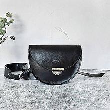 Kabelky - Kožená kabelka Daphne (čierna) - 11531705_