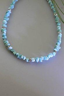 Náhrdelníky - larimar náhrdelník - nádherný larimar AA kvalita - 11532922_