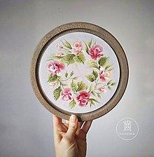 Pomôcky - Podnos s kvetmi  (Rúže, 22 cm * 1.5 cm) - 11533064_
