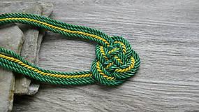 Náhrdelníky - Uzlový náhrdelník hrubý (žlto zelený, č. 3066) - 11532184_