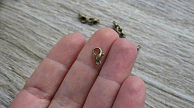 Komponenty - Karabinka 10 mm, 10 ks (bronz) - 11533230_
