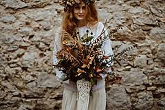 - Makramé obal na svadobnú kyticu - 11532885_