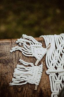 Darčeky pre svadobčanov - Makramé darčeky pre svadobných hostí - 11532808_