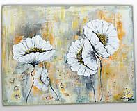Obrazy - Biele kvety - 11532739_