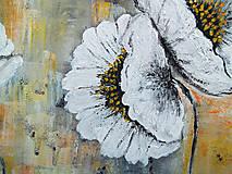 Obrazy - Biele kvety - 11532740_