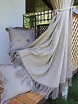 Úžitkový textil - Ľanový záves Rough Look - 11533547_