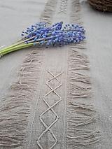 Úžitkový textil - Ľanový obrus Modesty - 11533670_