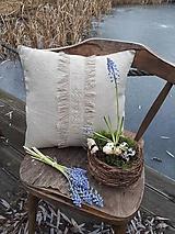 Úžitkový textil - Ľanová obliečka na vankúš Modesty - 11533746_