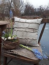 Úžitkový textil - Ľanová obliečka na vankúš Shabby Linen - 11533761_