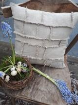 Úžitkový textil - Ľanová obliečka na vankúš Shabby Linen - 11533762_