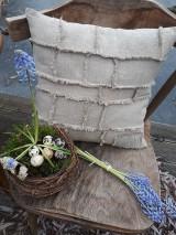 Úžitkový textil - Ľanová obliečka na vankúš Shabby Linen - 11533763_