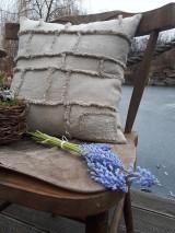 Úžitkový textil - Ľanová obliečka na vankúš Shabby Linen - 11533766_