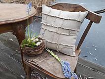 Úžitkový textil - Ľanová obliečka na vankúš Shabby Linen - 11533767_