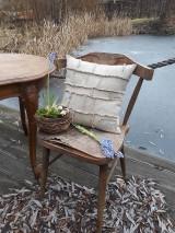 Úžitkový textil - Ľanová obliečka na vankúš Shabby Linen - 11533768_