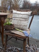 Úžitkový textil - Ľanová obliečka na vankúš Shabby Linen - 11533773_