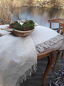 Úžitkový textil - Ľanový obrus Rough Look - 11533601_
