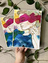 Obrazy - Jane, (ART PRINT) akvarel - 11531306_