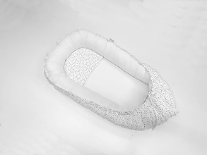 Textil - Hniezdo pre dieťatko sivo-biele s čiarkami - 11534207_