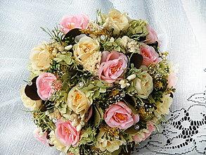 Dekorácie - Kytica zo šípových ruží - 11535505_