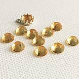 Minerály - kabošon citrín (rosecut), 6 mm - 11534396_