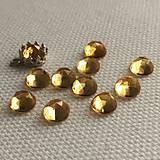 Minerály - kabošon citrín (rosecut), 6 mm - 11534398_