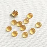 Minerály - kabošon citrín (rosecut), 6 mm - 11534400_
