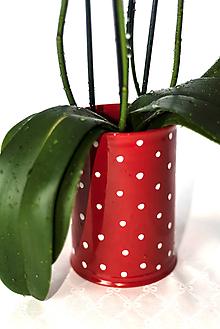 Nádoby - Vareškár, váza, či kvetináč v červenom prevedení - 11534932_