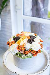 Dekorácie - Flowerbox - ORANGE - 11534141_