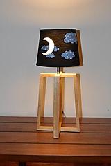 Svietidlá a sviečky - Detská nočná lampa MESIAČIK - 11536642_