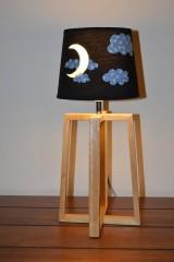 Svietidlá a sviečky - Detská nočná lampa MESIAČIK - 11536651_