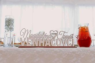 Darčeky pre svadobčanov - Krstné mená nad priezviskom - typ GREAT - 11537500_