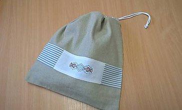 Úžitkový textil - Ľanové vrecko na chlebík-(39x36)cm - 11536916_