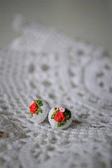 """Náušnice - """"pidi"""" náušničky kvetinkové - 11534658_"""