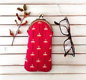 Taštičky - Púzdro na okuliare Kvety na cyklámenovej - 11535599_