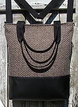 Batohy - backpack 3in1-  rustic beige&black - Batoh & taška cez rameno - 11535996_