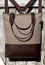 Batohy - backpack 3in1-  rustic beige&brown - Batoh & taška cez rameno - 11536064_