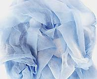 """Šály - """"light blue&white"""" bavlnený šál skladom:-) - 11536259_"""