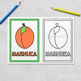 Hračky - Trochu poučná omaľovánka ovocie - marhuľa - 11536013_