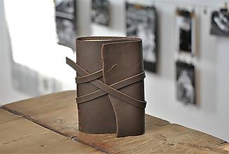 Papiernictvo - kožený zápisník SNORRE - 11538467_