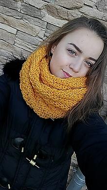 """Šály - """" HORČICOVÝ-nákrčník """" a iné doplnky - 11539085_"""