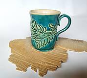 Keramická šálka - Tyrkysovo zelenkavá