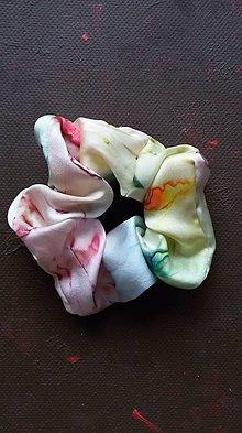 Ozdoby do vlasov - Hodvábna gumička do vlasov-Multicolor / veľká - 11540643_