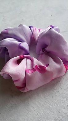 Ozdoby do vlasov - Hodvábna gumička do vlasov- Ružovo fialová / veľká - 11540649_
