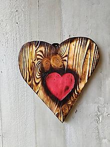 Dekorácie - Srdce -Chudobné- - 11539783_