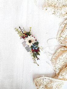 Ozdoby do vlasov - Kvetinový hrebienok - 11537851_