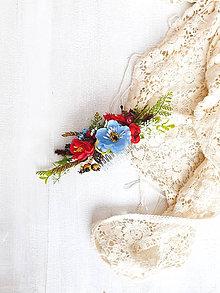 Ozdoby do vlasov - Kvetinový hrebienok ,,ľudový,, - 11537896_