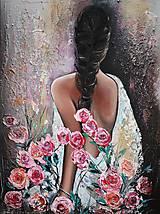 Obrazy - Dáma v ružiach - 11538456_